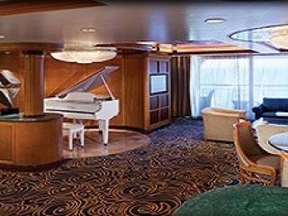 Описание на каюта Royal Suite with Balcony, категория RS на круизен кораб VISION Of The Seas  – обзавеждане, площ