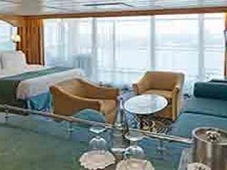 Описание на каюта Grand Suite - 1 Bedroom - Голям апартамент с една спалня - категория GS на круизен кораб RHAPSODY Of The Seas  – обзавеждане, площ