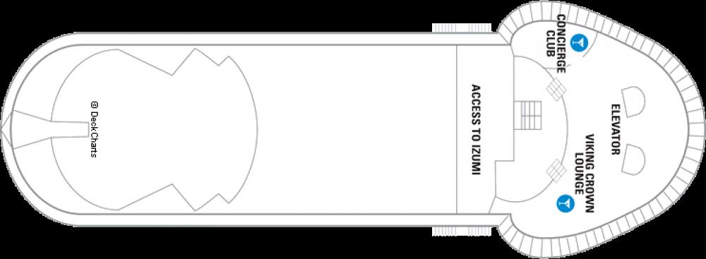 Палуба 11 на круизен кораб GRANDEUR Of The Seas  - разположение на каюти, ресторанти, места за забавления и спорт