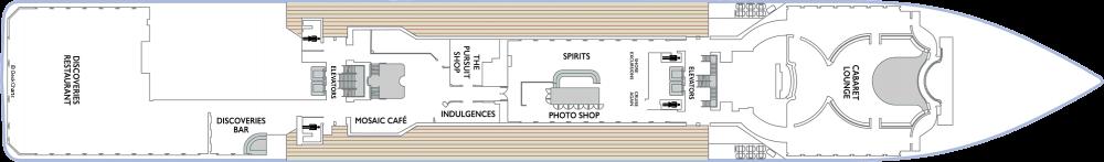 Палуба 5 на круизен кораб Azamara Pursuit - разположение на каюти, ресторанти, места за забавления и спорт