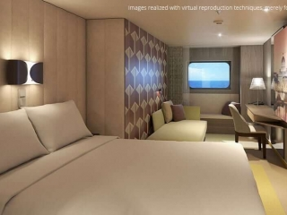 Описание на каюта Външни каюти - клас Basic на круизен кораб Costa Smeralda – обзавеждане, площ