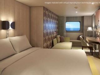 Описание на каюта Външни каюти - клас Premium на круизен кораб Costa Smeralda – обзавеждане, площ