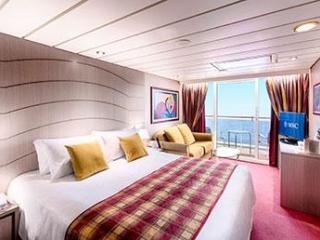 Описание на каюта Апартаменти - клас Aurea на круизен кораб MSC Lirica – обзавеждане, площ
