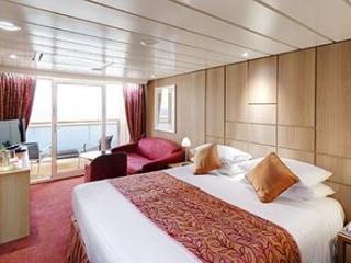 Описание на каюта Апартаменти - клас Aurea  на круизен кораб MSC Sinfonia – обзавеждане, площ