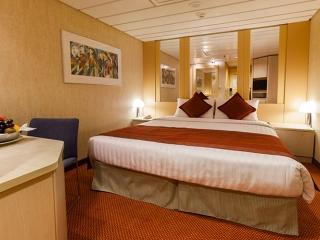 Описание на каюта Вътрешна каюта - категория Premium на круизен кораб Costa neoRIVIERA – обзавеждане, площ