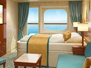 Описание на каюта Каюти с балкон - клас Premium на круизен кораб Costa VENEZIA – обзавеждане, площ