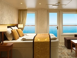 Описание на каюта Малък апартамент - категория MS на круизен кораб Costa VENEZIA – обзавеждане, площ