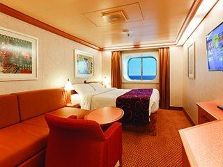 Описание на каюта Външни каюти - клас Premium на круизен кораб Costa DIADEMA – обзавеждане, площ
