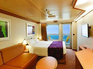 Описание на каюта Каюти с балкон - клас Premium на круизен кораб Costa DIADEMA – обзавеждане, площ