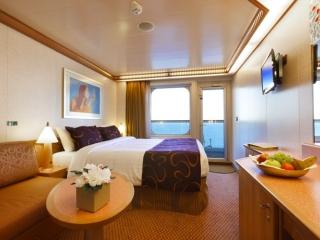 Описание на каюта Каюти с балкон - клас Premium на круизен кораб Costa FASCINOSA – обзавеждане, площ