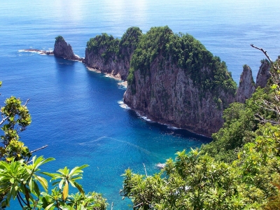 Описание и снимки на пристанище Апия (Самоа), Самоа от круизен маршрут