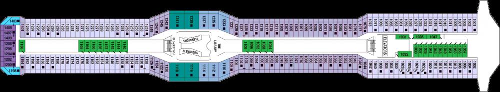 Палуба 10 - Sky Deck на круизен кораб Celebrity SOLSTICE - разположение на каюти, ресторанти, места за забавления и спорт