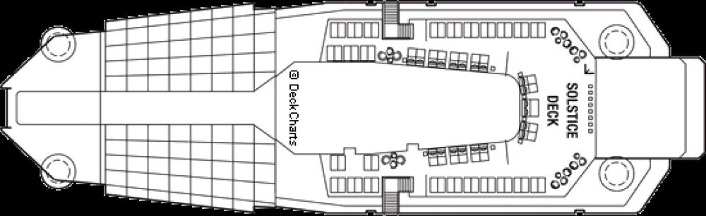 Палуба 16 - Solstice Deck на круизен кораб Celebrity SOLSTICE - разположение на каюти, ресторанти, места за забавления и спорт