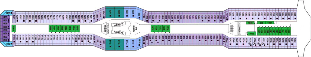 Палуба 10 - Sky Deck на круизен кораб Celebrity EQUINOX - разположение на каюти, ресторанти, места за забавления и спорт