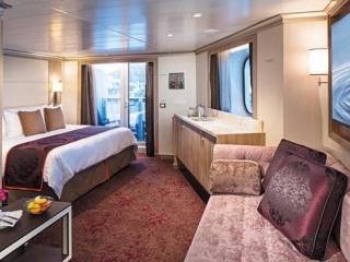 Описание на каюта Апартаменти - клас Signature Suite на круизен кораб Koningsdam – обзавеждане, площ