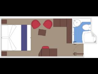 Описание на каюта Вътрешни каюти - клас BELLA на круизен кораб MSC World Europa – обзавеждане, площ