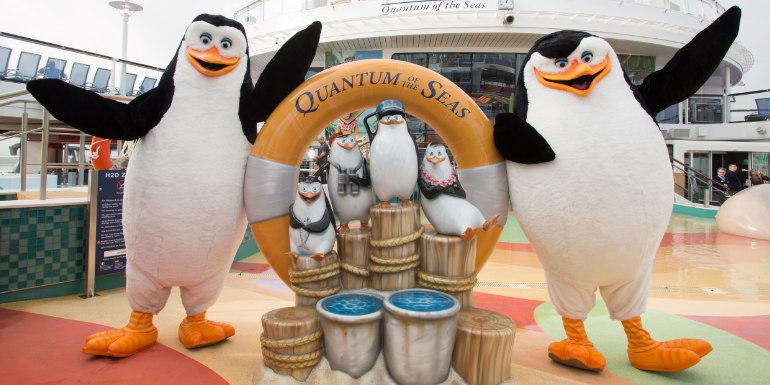 DreamWorks герои на борда на Royal Caribbean