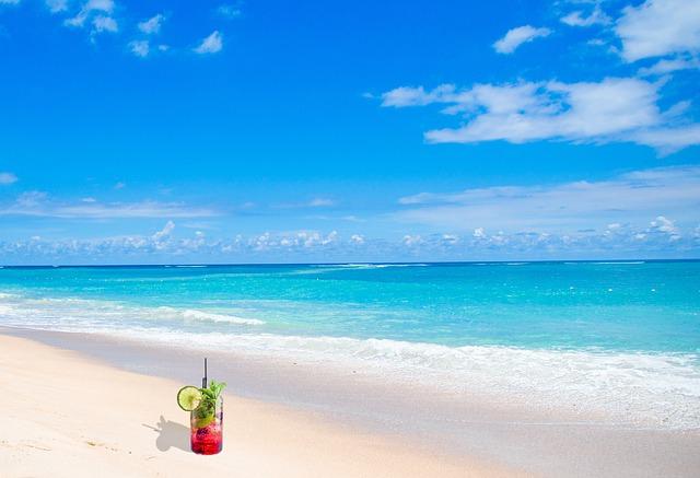 Cruise beach sea