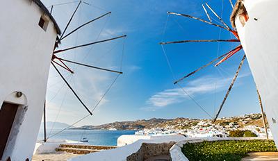 Вятърните мелници на остров Миконос