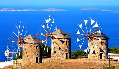 Вятърните мелници на остров Патмос