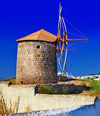 Вятърна мелница на остров Патмос