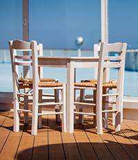 Кафене на кораб Celestyal Olympia
