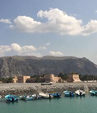 Пристанището в Мускат - Мина Кабус