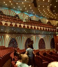 Театрална зала на круизен кораб MSC Musica