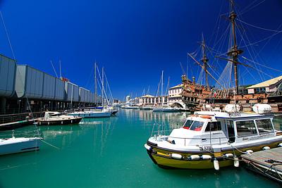 Близо да аквариума в Генуа
