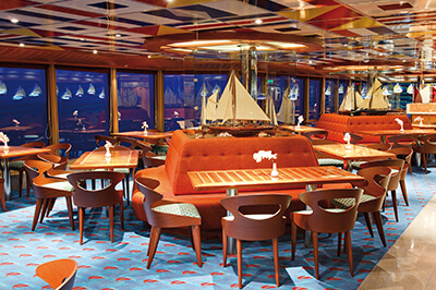 Costa Deliziosa ресторанти на борда