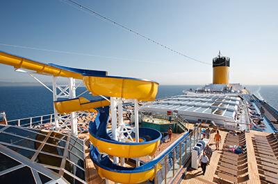 Costa Pacifica забавления на борда