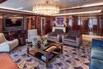 Cunard onboard